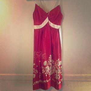 Romantic silk dress